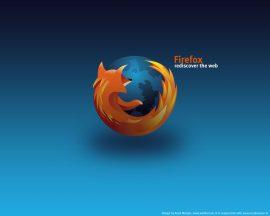 Papel de parede Mozilla Firefox fundo Azul