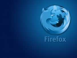 Papel de parede Mozzila FireFox Azul