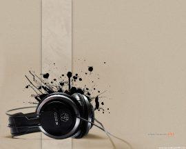 Papel de parede Música – Fone para música