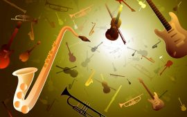 Papel de parede Música – Saxofone