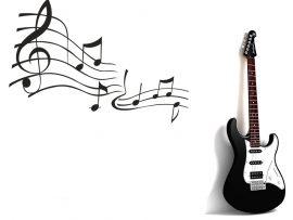 Papel de parede Música e Guitarra