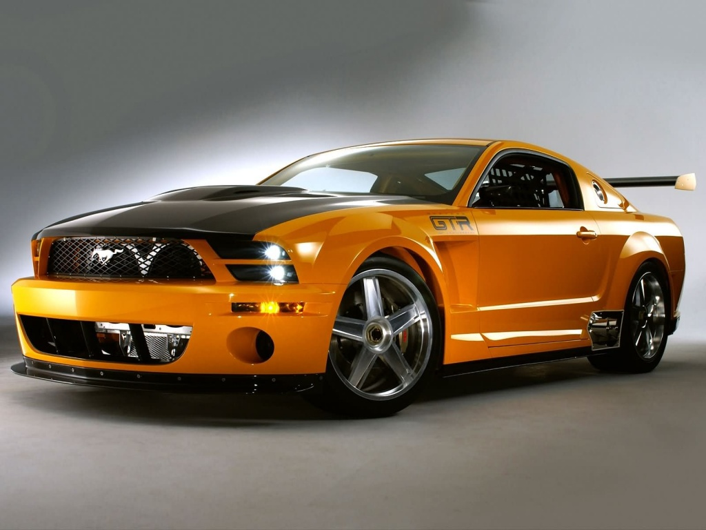 Papel de parede Mustang Laranja para download gratuito. Use no computador pc, mac, macbook, celular, smartphone, iPhone, onde quiser!