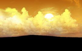 Papel de parede Nas Nuvens – Amarelo