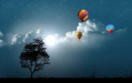 Papel de parede Nas Nuvens – Balões