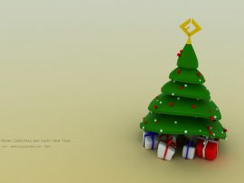Papel de parede Natal – Árvore Divertida