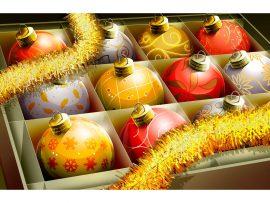 Papel de parede Natal – Bolinhas