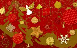 Papel de parede Natal – Decoração Vermelha