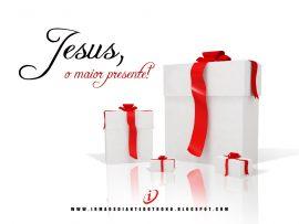 Papel de parede Natal – Jesus é o Melhor Presente
