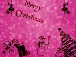 Papel de parede Natal – Rosa Pink