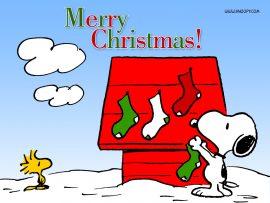 Papel de parede Natal do Snoopy