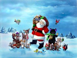 Papel de parede Natal dos Animais