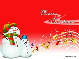 Papel de parede Natal e Neve – Bonecos de Neve