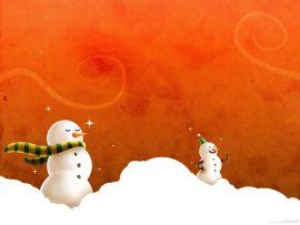 Papel de parede Natal e Neve – Bonecos