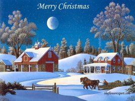 Papel de parede Natal e Neve – Casa