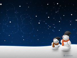 Papel de parede Natal e Neve – Estrelas