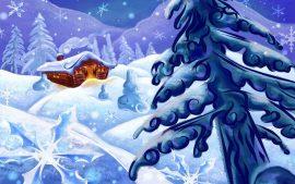 Papel de parede Natal e Neve – Frio