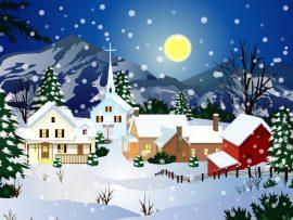 Papel de parede Natal e Neve – Vilarejo