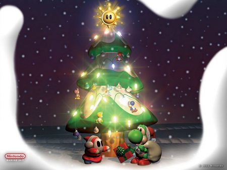 Papel de parede Natal Nintendo para download gratuito. Use no computador pc, mac, macbook, celular, smartphone, iPhone, onde quiser!