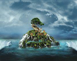 Papel de parede Natureza Ilustrada