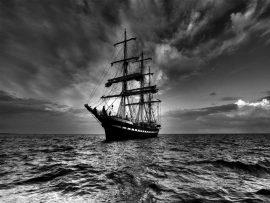 Papel de parede Navegar – Dia Sombrio