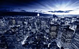 Papel de parede Nova York em Azul