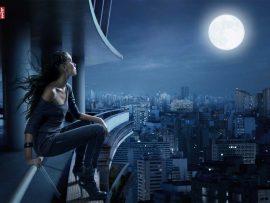Papel de parede Noite – Garota