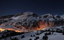 Papel de parede Noite nas Montanhas