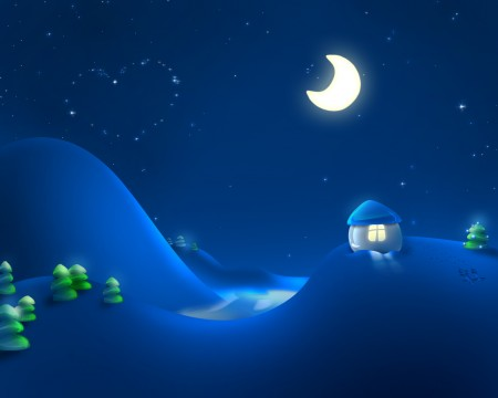 Papel de parede Noite de Inverno para download gratuito. Use no computador pc, mac, macbook, celular, smartphone, iPhone, onde quiser!