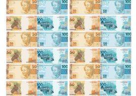 Papel de parede Novos 50 e 100 reais