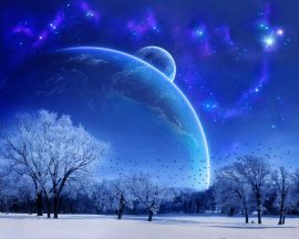 Papel de parede Num planeta azul