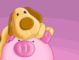 Papel de parede O Porco e o Cachorro