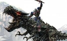 Papel de parede Transformers 4: Optimus Prime Montando o Grimlock