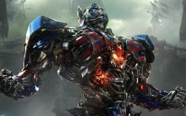 Papel de parede Transformers 4: Optimus Prime em Chamas