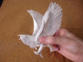 Papel de parede Origami – Águia