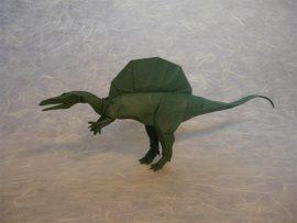 Papel de parede Origami – Dinossauro