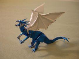 Papel de parede Origami – Dragão Azul