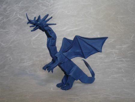 Papel de parede Origami – Grande Dragão Azul para download gratuito. Use no computador pc, mac, macbook, celular, smartphone, iPhone, onde quiser!