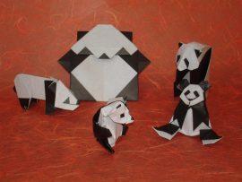 Papel de parede Origami – pandas