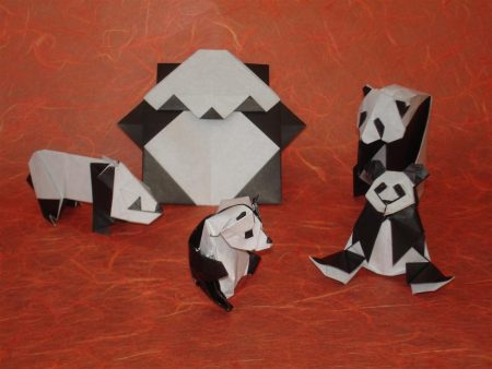 Papel de parede Origami – pandas para download gratuito. Use no computador pc, mac, macbook, celular, smartphone, iPhone, onde quiser!