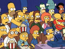 Papel de parede Os Simpsons – Assistindo TV