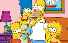 Papel de parede Os Simpsons – Família