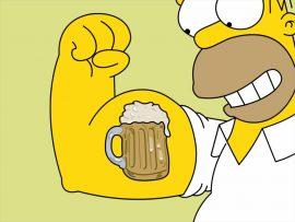 Papel de parede Os Simpsons – Músculo de Cerveja