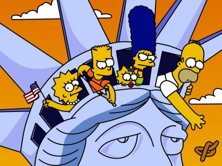 Papel de parede Os Simpsons na Estátua da Liberdade para download gratuito. Use no computador pc, mac, macbook, celular, smartphone, iPhone, onde quiser!