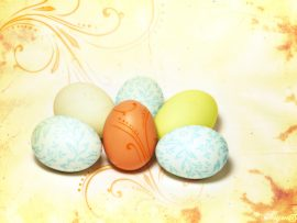 Papel de parede Ovos decorados para a Páscoa