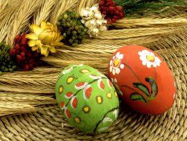 Papel de parede Ovos pintados para a Páscoa