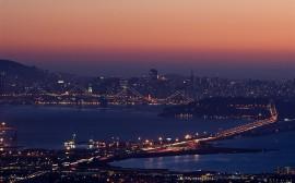 Papel de parede Pôr-do-Sol em São Francisco, Califórnia