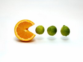 Papel de parede Pac Fruta