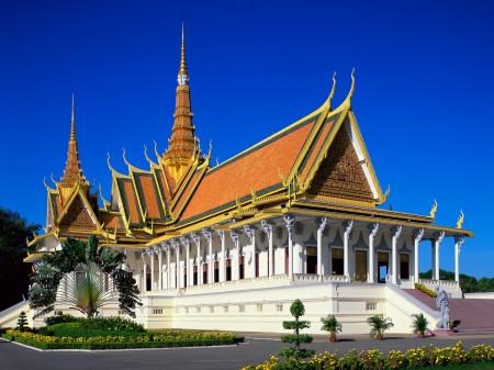 Papel de parede Palácio Real, Camboja para download gratuito. Use no computador pc, mac, macbook, celular, smartphone, iPhone, onde quiser!