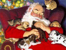 Papel de parede Papai Noel e os Filhoes