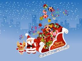 Papel de parede Papai Noel e o Trenó